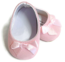 Suede Bow Shoes-Pink