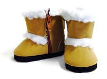 Shearling Boots-Tan