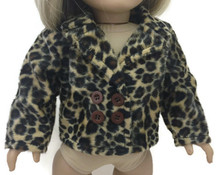 Velour Jacket-Brown Animal Print