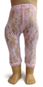 Lace Leggings-Pink