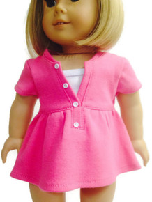 Short Sleeved Trendy Top-Hot Pink