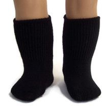 Knit Sport Socks-Black