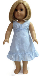 Sleeveless Dress-Blue Eyelet