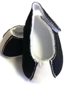 Shoes-Black & Ecru