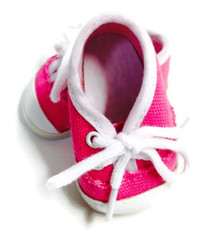 Canvas Tennis Shoes-Hot Pink