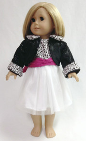Black, White, & Fucshia Party Dress & Jacket