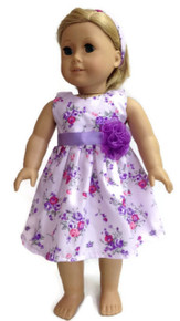 Lavender Floral Dress & Headband