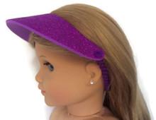 Visor-Purple Glitter