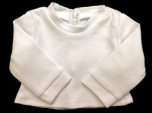 Long Sleeved Knit Shirt-White