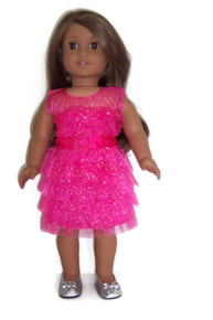 Sparkle Dress-Fucshia Pink