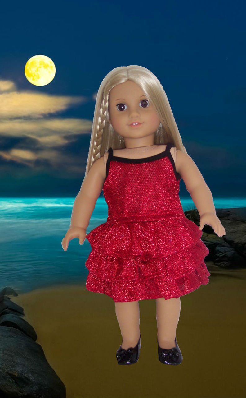 Metallic Red Amp Black Skirt Set Dori S Doll Boutique