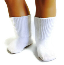 Knit Sport Socks-White