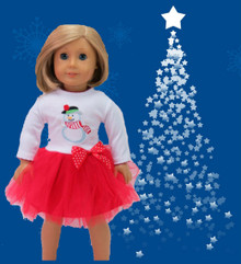 Snowman Dress-Red & White