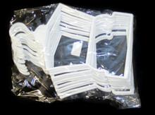 Hanger-White Plastic Outfit 1 Dozen