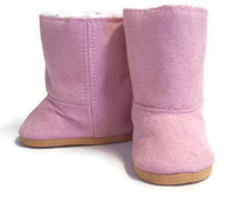 Suede Fur Lined Boots-Pink