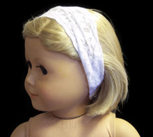 Stretchy Lace Headband-White