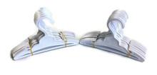 Plastic Hangers with Slit 2 Dozen-White