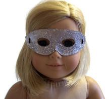 Halloween Mask-Silver Glitter