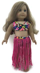 Hawaiian Hula Swimsuit Set-Pink