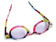 Sunglasses-Colorful Rimmed with Purple Tinted Lens