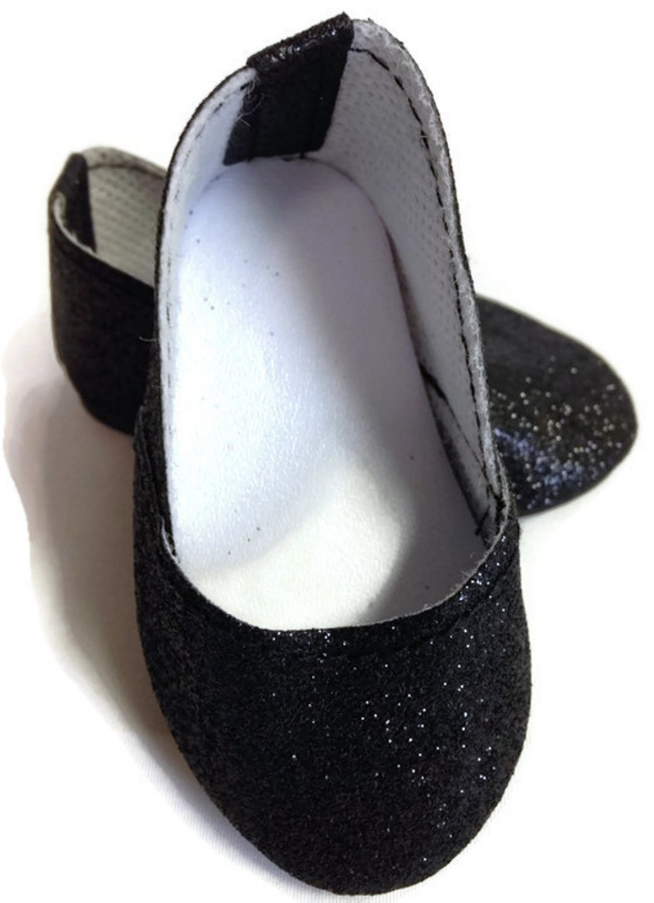 Lavender Sparkle Princess Shoes made for 18 inch American Girl Doll Clothes
