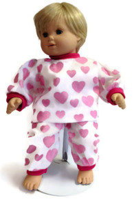 Pajamas-Pink Heart Print