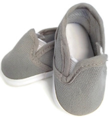 Canvas Slip On Shoes-Gray