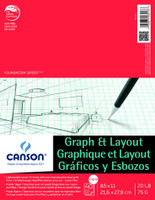 "Canson - Graph & Layout Tape Top 4/4 Grid - 8.5""x11"" - 40 Sheets - 20LB"