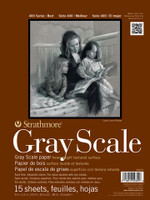 "Strathmore - Gray Scale Assorted Tints Tape Pad - 400 Series - 12""x18"" - 15 Sheets - 80LB"