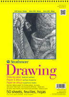 "Strathmore - Drawing Medium Surface Spiral Top - 300 Series - 14""x17"" - 50 Sheets - 70LB"