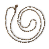 """Fancy Ball Chain 24"""" Necklace - Antiqued Imitation Gold"""