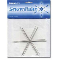 WIRE SNOWFLAKE 3 3/4 INCH .8MM DIA- 8PCS/CD