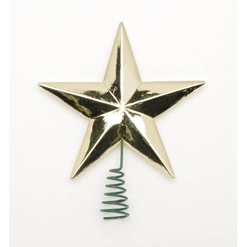 Star Tree Topper Medium Gold 2 Inches