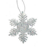 Glitter Snowflake - Silver - 2 inches - 12 pieces
