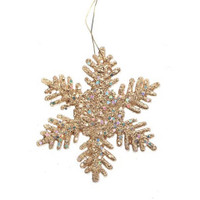 Glitter Snowflake - Gold - 2 inches - 12 pieces