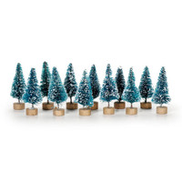 Sisal Tree - Green with Frost - 1.5 inches - 12 pieces