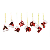 Ornaments - Assorted Santa - 3/4 inch - 8 pieces