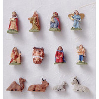 Ornaments with Blister Card - Nativity Set - .75 inch - 12 pieces
