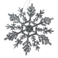 Snowflake - Silver - 4 inches - 10 pieces