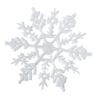 Snowflake - White - 4 inches - 12 pieces