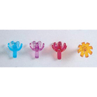 Ceramic Tree Accessories - Flower Pin - Multi Color - 5/8 inch - 100 pack