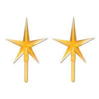 Ceramic Tree Accessories - Star - Gold - 3-7/8 x 2-5/8 inches