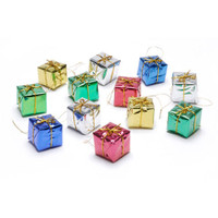 Foil Gift Boxes - Assorted Colors - 1 inch - 12 pieces