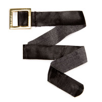 Santa Belt - Black with Metal Buckle - 14 inches