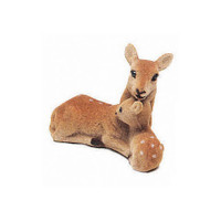 Brown Mother and Fawn Deer - 2-1/4 inches - 1 piece