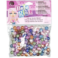 Bead Girl Faceted Round Beads 144/Pkg