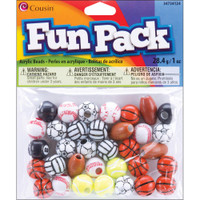 Fun Pack Acrylic Sports Beads 1oz