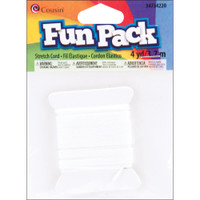 White Fun Pack Stretch Cord 1mmX4yd
