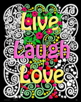 LIVE LAUGH LOVE POSTER