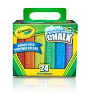 CRAYOLA SIDEWALK CHALK ASSORTED 24 PIECES